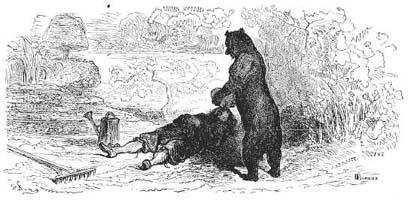 Пустынник и Медведь (Г. Доре)