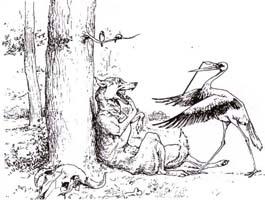 Волк и Журавль (Вимар)