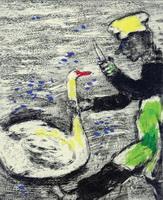 Иллюстрация к басне Лебедь и Повар