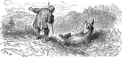 Старик и Осел (Г. Доре)
