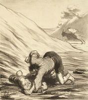 Осел и Воры (Оноре Домье, эскиз)