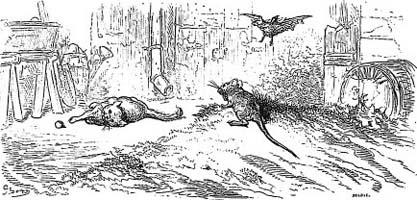 Петух, Кот и Мышонок (Г. Доре)