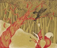 Иллюстрация к басне Ворона и Лисица