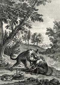 Собака с хозяйским обедом (Удри)