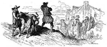 Мельник, его Сын и Осел (Г. Доре)