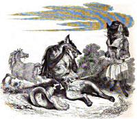 Лисица, Волк и Лошадь (Гранвиль)
