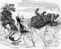Лев и Комар (Гранвиль)