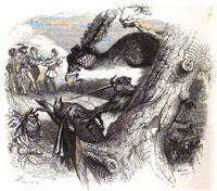 Коршун и Соловей (Гранвиль)