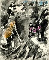 Иллюстрация к басне Сука и ее Друг