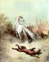Волк и Конь (Г. Доре)