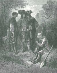 Старик и трое Молодых (Г. Доре)