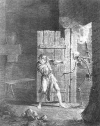 Смерть и Несчастный (Жан-Батист Удри)