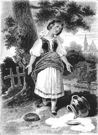 Молочница и горшок с молоком (А. Девериа)