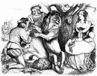 Влюбленный Лев (Гранвиль)