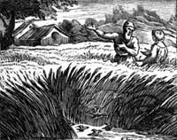 Жаворонок с Птенцами и Землевладелец (Ф. Шово)