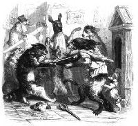 Ссора Собак с Кошками и Кошек с Мышами (Гранвиль)