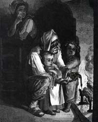 Поселянин и Змея (Г. Доре)