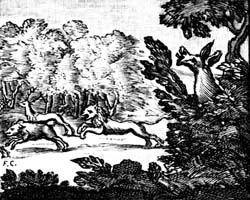 Лев и Осел на охоте (Ф. Шово)