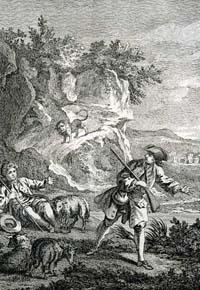 Лев и Охотник (Удри)
