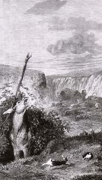 Лев и Осел на охоте (Е. Ламберт)