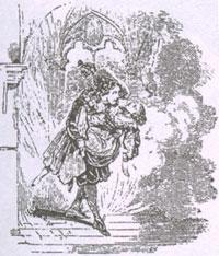 Муж, Жена и Вор. Рисунок XIX в.