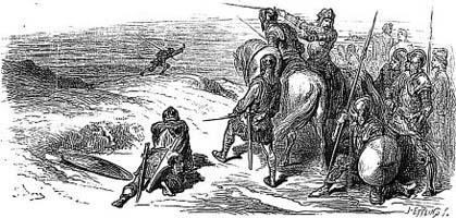 Лев в походе (Г. Доре)