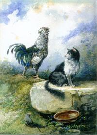 Петух, Кот и Мышонок (А. Делире)